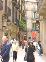 Street in the El Born / La Ribera district of Barcelona